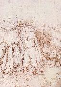 LEONARDO da Vinci A rock gorge oil painting picture wholesale
