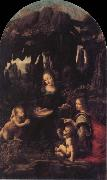 Leonardo  Da Vinci The Virgin of the Rocks oil painting picture wholesale