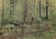 Levitan, Isaak Away in the foliage forest fern oil painting picture wholesale