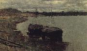Levitan, Isaak Barge. Wolga oil painting picture wholesale