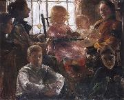Lovis Corinth The Family of the Painter Fritz Rumpf oil painting artist