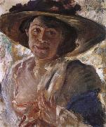 Lovis Corinth Woman in a Rose-Trimmed Hat oil painting artist