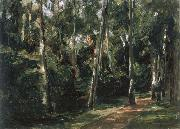 Max Liebermann The Birch-Lined Avenue in the Wannsee Garden Facing Southwest oil painting picture wholesale