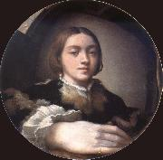 PARMIGIANINO Self-Portrait in a convex mirror Sweden oil painting reproduction