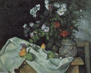 Paul Cezanne Still Life with Flowers and Fruit oil painting picture wholesale