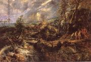 Peter Paul Rubens Stormy lanscape with Philemon and Baucis oil painting picture wholesale