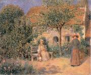 Pierre-Auguste Renoir Garden scene in Brittany oil painting picture wholesale