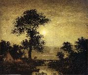 Ralph Blakelock Moonlight oil painting artist