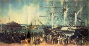 Samuel Bell Waugh The Bay and Harbor of New York oil painting picture wholesale
