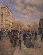 Theodore Robinson Fifth Avenue at Madison Square oil painting picture wholesale