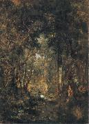 Theodore Rousseau In the Wood at Fontainebleau oil painting picture wholesale