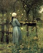 William Stott of Oldham A Girl in a  Meadow oil painting picture wholesale
