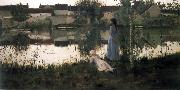 William Stott of Oldham The Ferry oil painting picture wholesale