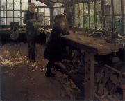 William Stott of Oldham Grandfather-s Workshop oil painting artist