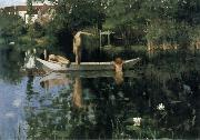 William Stott of Oldham The Bathing Place oil painting artist