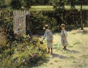 Wladyslaw Podkowinski Children in the Garden oil painting artist