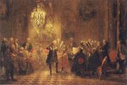Adolf Friedrich Erdmann Menzel The Flute Concert of Frederick II at Sanssouci oil painting picture wholesale