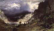 Albert Bierstadt Ein Sturm in den RockY Mountains,Mount Rosalie oil