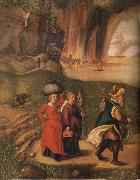 Albrecht Durer Lot flees with his family from sodom oil painting picture wholesale