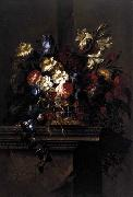 Arellano, Juan de Basket of Flowers on a Plinth oil painting