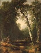 Asher Brown Durand Ein Bach im  Wald oil painting picture wholesale