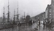 Atkinson Grimshaw Shipping on the Clyde oil painting picture wholesale