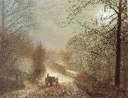 Atkinson Grimshaw Forge Valley,near Scarborough oil painting picture wholesale