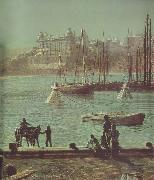 Atkinson Grimshaw Detail of Scarborough Bay oil painting picture wholesale