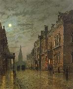 Atkinson Grimshaw Park Row,Leeds oil painting picture wholesale
