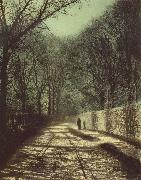 Atkinson Grimshaw Tree Shadows on the Park Wall,Roundhay Park Leeds oil painting picture wholesale