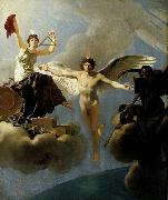 Baron Jean-Baptiste Regnault The Genius of France between Liberty and Death oil painting artist