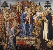 Benozzo Gozzoli The Virgin and Child Enthroned among Angels and Saints oil painting picture wholesale