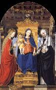 Bergognone The Virgin and Child Enthroned with Saint Catherine of Alexandria and Saint Catherine of Siena oil painting artist