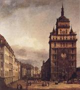 Bernardo Bellotto Square with the Kreuz Kirche in Dresden oil painting picture wholesale
