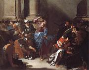 Bernardo Cavallino Christ Driving the Traders from the Temple oil