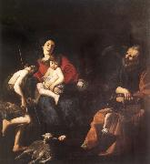 CASTIGLIONE, Giovanni Benedetto The rest in the flight to Egypt oil painting picture wholesale