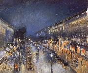 Camille Pissarro The Boulevard Monimartre at Night oil painting picture wholesale