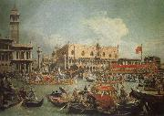 Canaletto The Bucintoro in Front of the Doges- Palace on Ascension Day oil painting picture wholesale