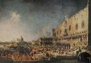 Canaletto The Arrival of the French Ambassador in Venice oil painting picture wholesale
