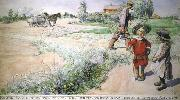Carl Larsson Boy and girl oil painting picture wholesale