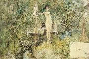Carl Larsson Karin Cutting Carl-s Hair oil painting picture wholesale