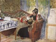 Carl Larsson A Mother-s Thoughts oil painting picture wholesale
