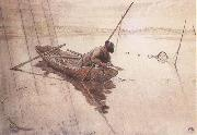 Carl Larsson Fishing oil painting picture wholesale