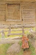 Carl Larsson A Rattvik Girl  by Wooden Storehous oil painting picture wholesale