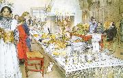 Carl Larsson Christmas Eve Banquet oil painting picture wholesale