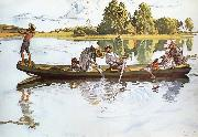 Carl Larsson On Viking Expedition in Dalarna oil painting picture wholesale