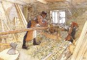 Carl Larsson In the Carpenter Shop oil painting picture wholesale