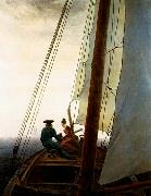 Caspar David Friedrich On the Sailing Boat oil painting picture wholesale