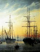 Caspar David Friedrich View of a Harbour . oil painting picture wholesale