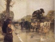 Childe Hassam April Showers,Champs Elysees Paris oil painting picture wholesale